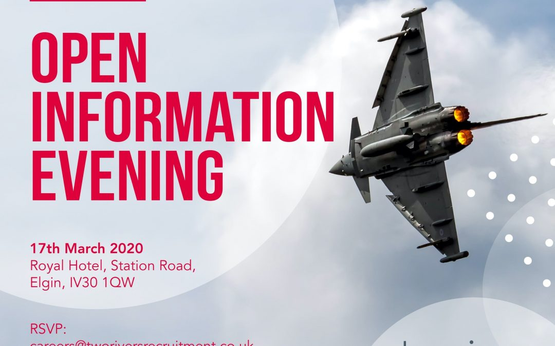 Open Information Evening – Elgin 17th March 2020